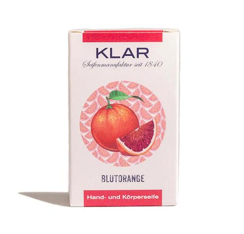 Blutorangen - Seife palmölfrei - Cosmos zertifiziert - KLAR 100 g
