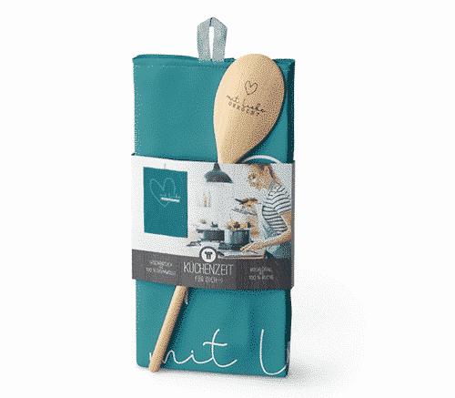 Küchenzeit mit Liebe - Kochlöffel & Geschirrtuch - La Vida