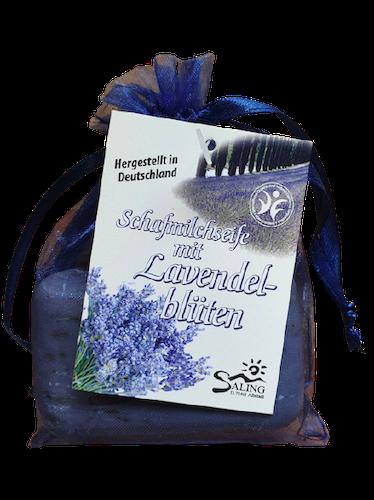 Schafmilchseife Lavendel im Organzasäckchen - Saling 100 g