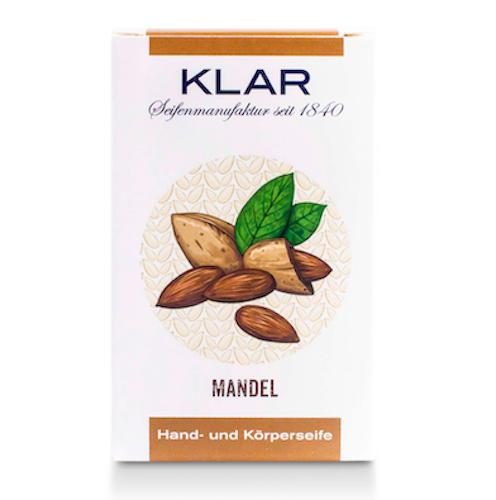 Mandel - Seife palmölfrei - Cosmos zertifiziert - KLAR 100 g