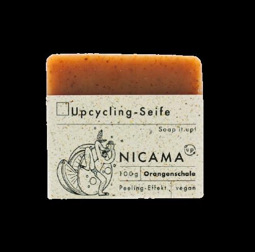 Peeling - Seife mit Orangenschale - Upcyclingseife - Nicama 100 g