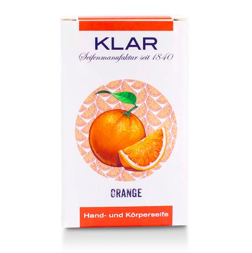 Orangen - Seife palmölfrei - Cosmos zertifiziert - KLAR 100 g