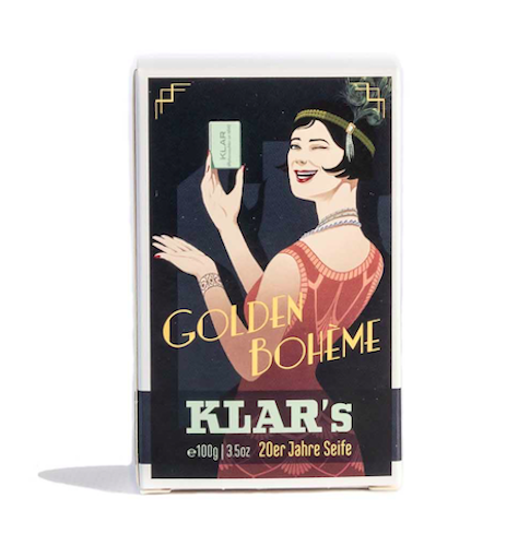 Retro Seife - Golden Bohèm - Palmölfrei - KLAR 100 g