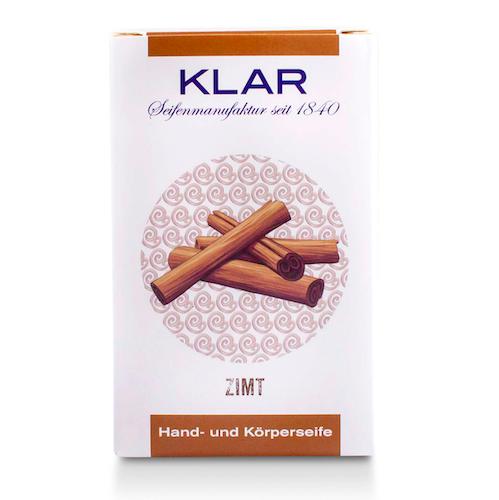 Zimt - Seife palmölfrei - Cosmos zertifiziert - KLAR 100 g