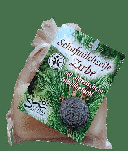 Zirbe - Starterset I - Kissen + Schafmilchseife + Ätherisches Öl