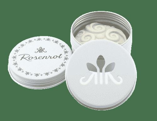 Bitbox Weiß mit 2 Deckeln - Rosenrot