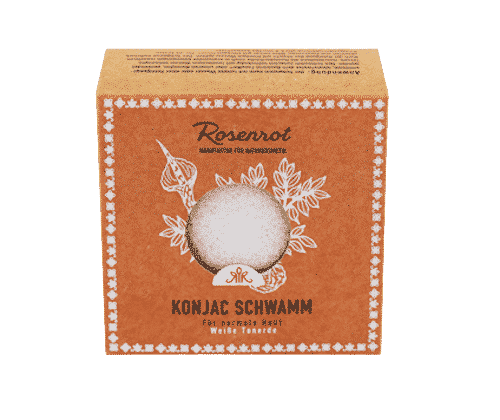 Konjac Schwamm – Weisse Tonerde – Rosenrot